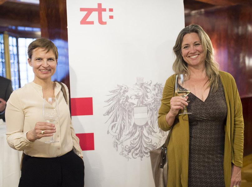 Präsentation des neuen zt-Logos in Wien, beim Sommerfest der ZiviltechnikerInnen.